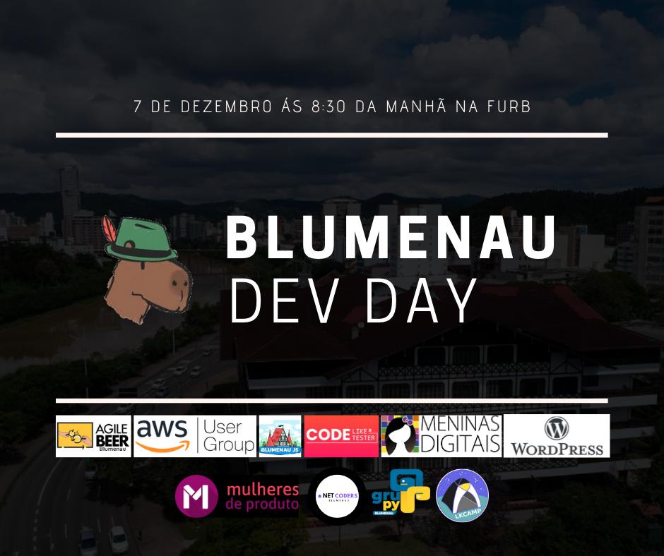 Blumenau Dev Day 2019 - Diego Neves vai representar o GruPy